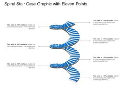 Spiral Stair Case Graphic With Eleven Points