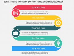 spiral_timeline_with_icons_business_achievement_representation_flat_powerpoint_design_Slide01