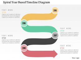 Spiral Year Based Timeline Diagram Flat Powerpoint Design
