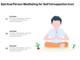 Spiritual Person Meditating For Self Introspection Icon