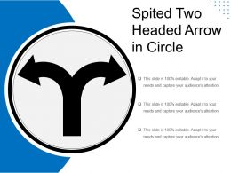 Spited Two Headed Arrow In Circle