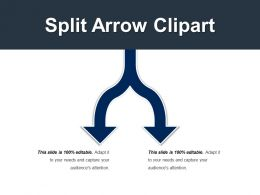 Split Arrow Clipart Ppt Slide