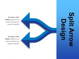 Split Arrow Design Ppt Slide Design