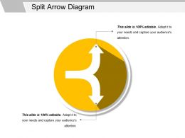 Split Arrow Diagram Ppt Slide Show