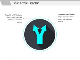 Split Arrow Graphic Ppt Slide Styles