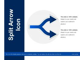 Split Arrow Icon Ppt Slide Template