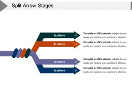 Split Arrow Stages Ppt Slide Themes
