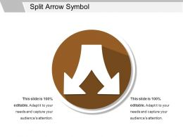 Split Arrow Symbol Ppt Slides