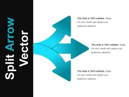 Split Arrow Vector Ppt Slides Download