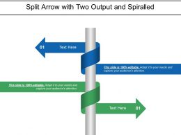 Split Arrow With Two Output And Spiralled