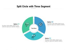 Split Circle With Three Segment
