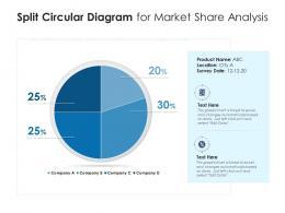 Split Circular Diagram For Market Share Analysis