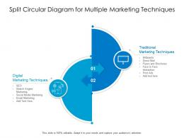 Split Circular Diagram For Multiple Marketing Techniques