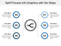 Split Process Info Graphics With Six Steps
