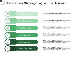 Split Process Showing Diagram For Business
