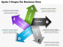 Spoke 5 Stages For Business Data Powerpoint Templates