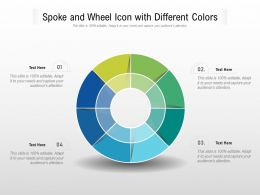 Spoke And Wheel Icon With Different Colors