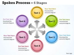 94372248 Style Circular Spokes 6 Piece Powerpoint Template Diagram Graphic Slide