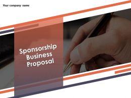 Sponsorship Business Proposal Powerpoint Presentation Slide