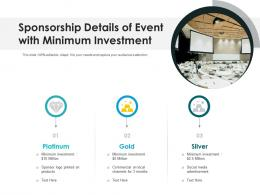Sponsorship Details Of Event With Minimum Investment