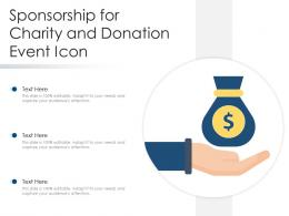 Sponsorship For Charity And Donation Event Icon