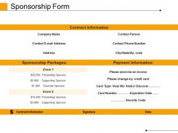 Sponsorship Form Powerpoint Slide Show
