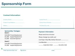 Sponsorship Form Presentation Slides