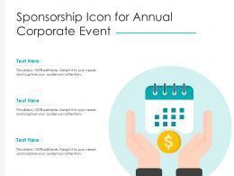 Sponsorship Icon For Annual Corporate Event