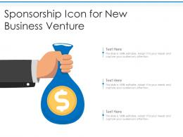 Sponsorship Icon For New Business Venture