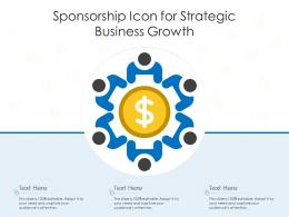 Sponsorship Icon For Strategic Business Growth