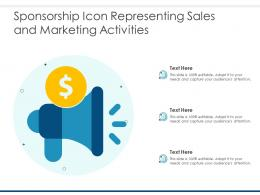 Sponsorship Icon Representing Sales And Marketing Activities