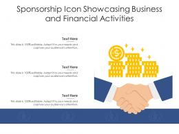 Sponsorship Icon Showcasing Business And Financial Activities