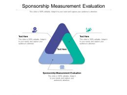 Sponsorship Measurement Evaluation Ppt Powerpoint Presentation Outline Information Cpb