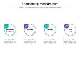 Sponsorship Measurement Ppt Powerpoint Presentation Portfolio Example Cpb