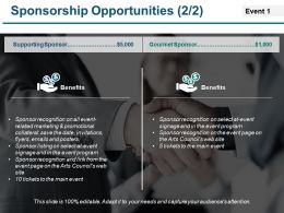 Sponsorship Opportunities Powerpoint Slide Design Templates