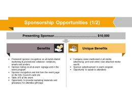Sponsorship Opportunities Powerpoint Slide Presentation Guidelines
