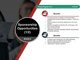 Sponsorship Opportunities Powerpoint Themes