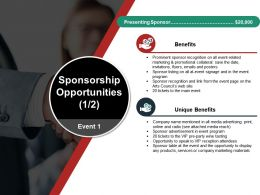 Sponsorship Opportunities Powerpoint Topics