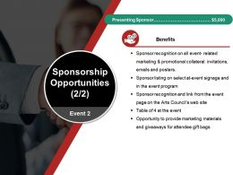 Sponsorship Opportunities Ppt Background