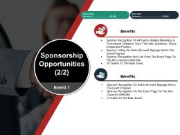 Sponsorship Opportunities Ppt Design