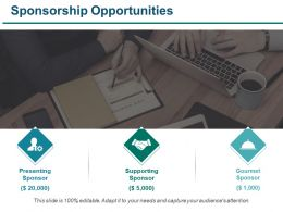 Sponsorship Opportunities Ppt Examples Slides