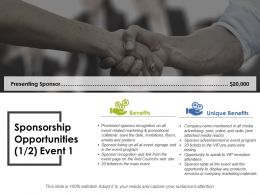 Sponsorship Opportunities Ppt Layouts Diagrams