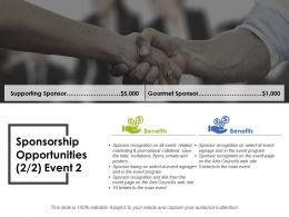 Sponsorship Opportunities Ppt Layouts Files