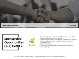 Sponsorship Opportunities Ppt Layouts Gallery
