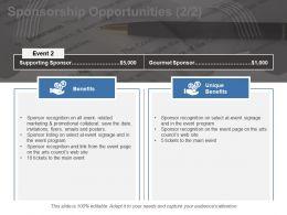 Sponsorship Opportunities Ppt Model Portrait