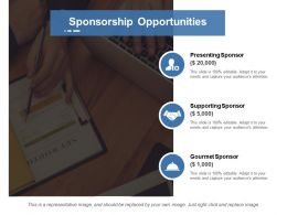 Sponsorship Opportunities Ppt Summary Model