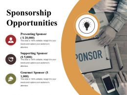 Sponsorship Opportunities Presentation Background Images