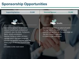 Sponsorship Opportunities Presentation Diagrams