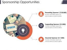 Sponsorship Opportunities Presentation Portfolio