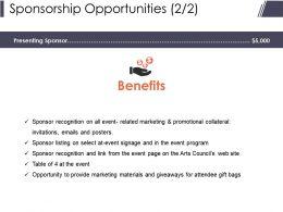 Sponsorship Opportunities Presentation Powerpoint Templates